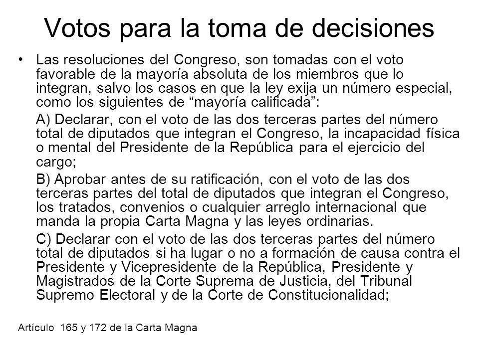 Votos para la toma de decisiones