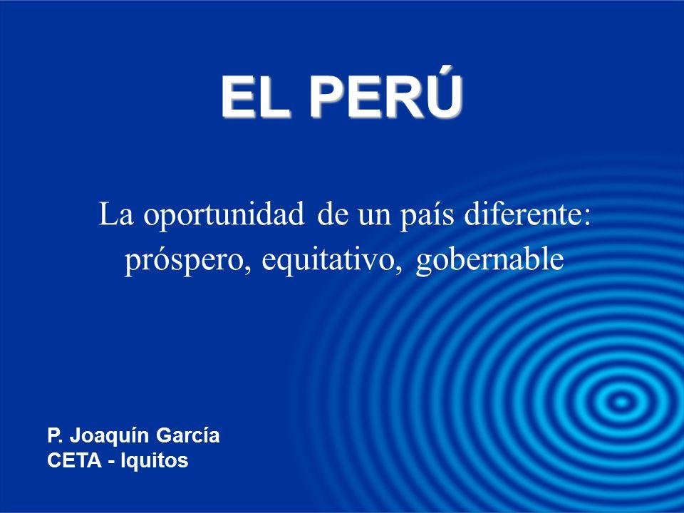 La oportunidad de un país diferente: próspero, equitativo, gobernable