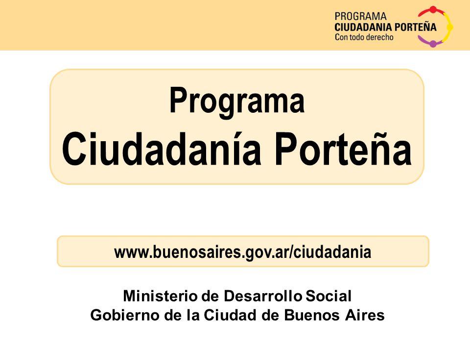 Ministerio de Desarrollo Social Gobierno de la Ciudad de Buenos Aires