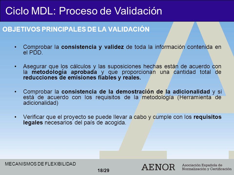 OBJETIVOS PRINCIPALES DE LA VALIDACIÓN