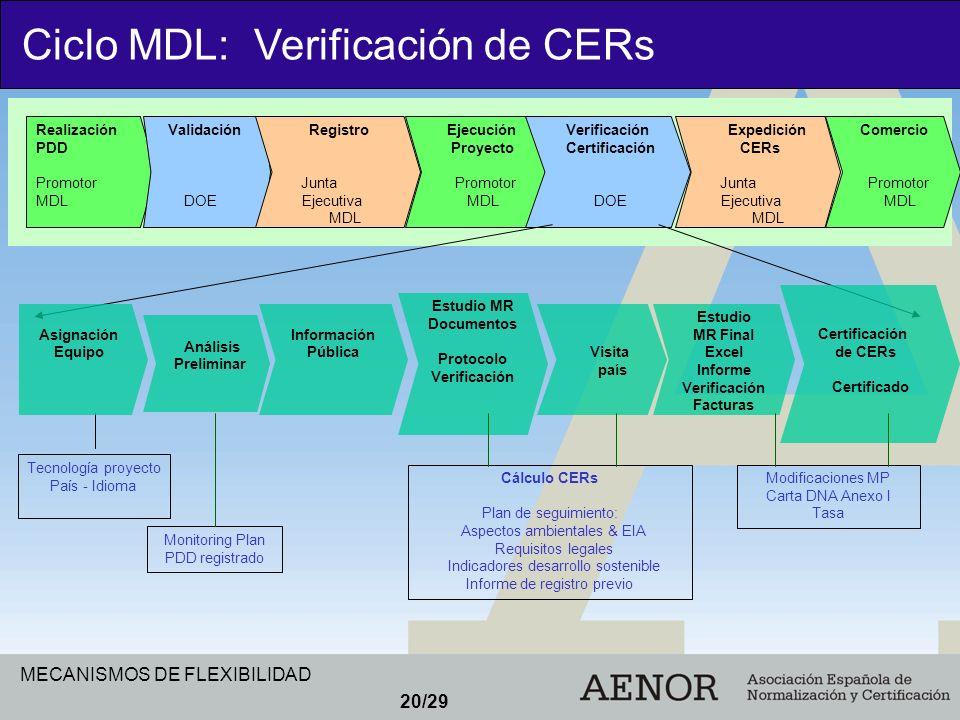 Ciclo MDL: Verificación de CERs