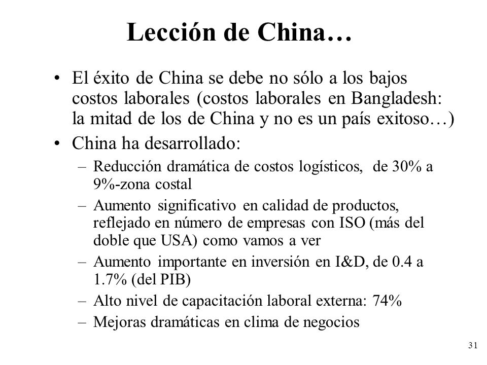 Lección de China…