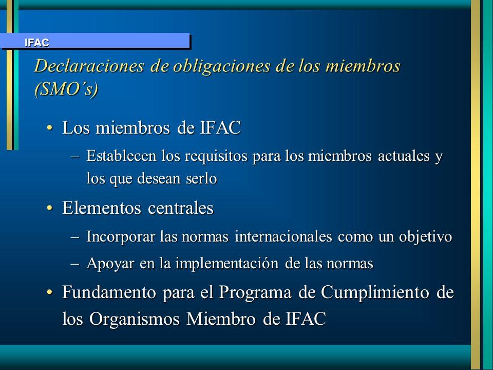 Declaraciones de obligaciones de los miembros (SMO´s)