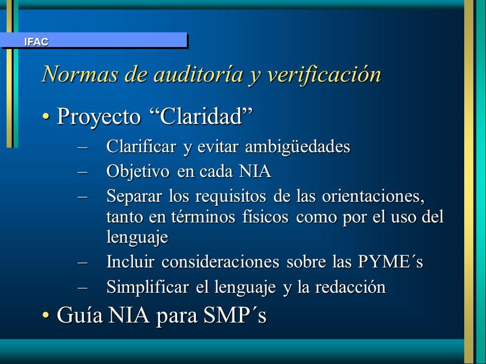 Normas de auditoría y verificación