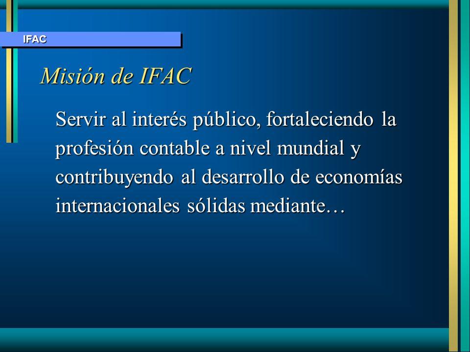 IFAC Misión de IFAC.