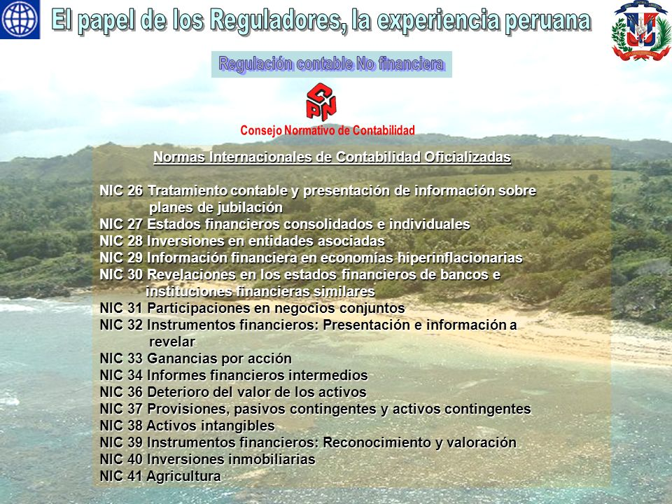 Regulación contable No financiera Consejo Normativo de Contabilidad