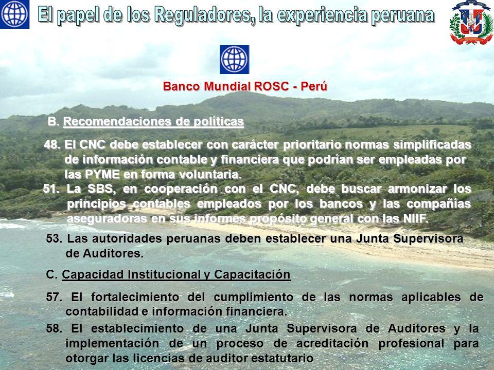 El papel de los Reguladores, la experiencia peruana