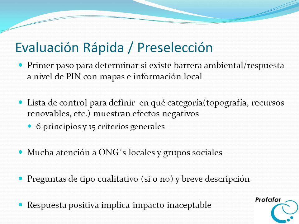 Evaluación Rápida / Preselección