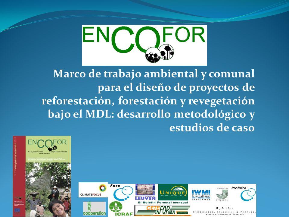 Marco de trabajo ambiental y comunal para el diseño de proyectos de reforestación, forestación y revegetación bajo el MDL: desarrollo metodológico y estudios de caso