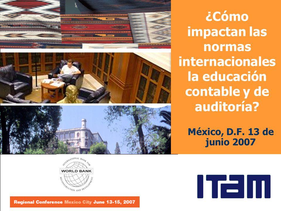 ¿Cómo impactan las normas internacionales la educación contable y de auditoría