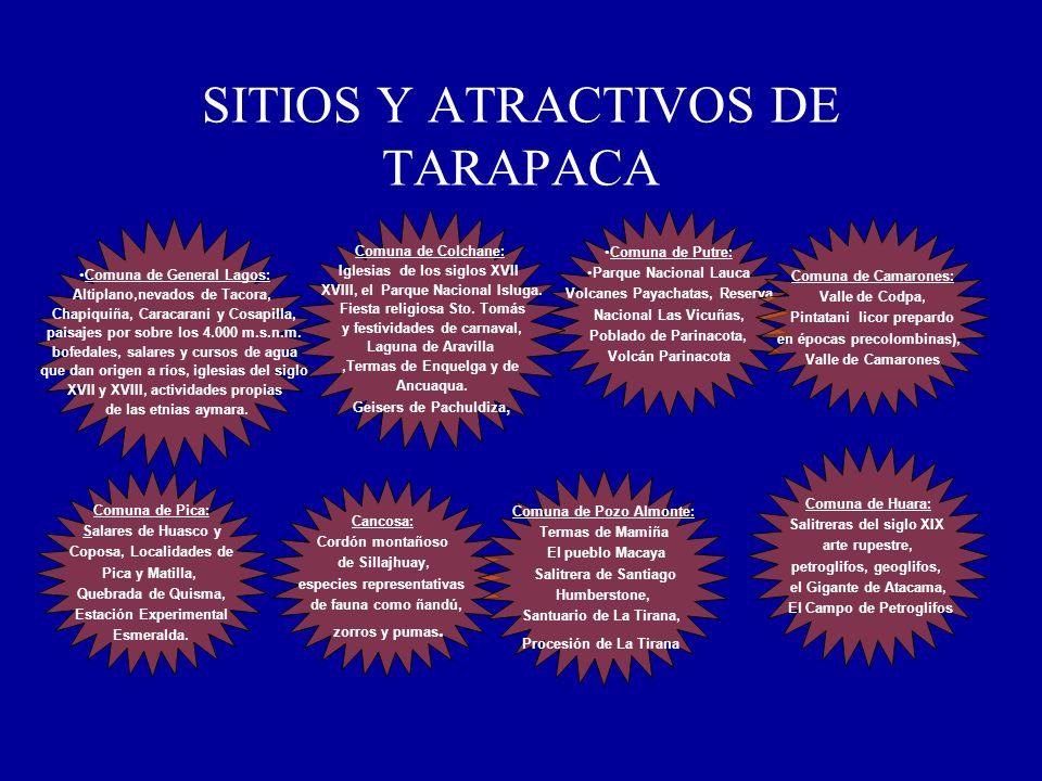 SITIOS Y ATRACTIVOS DE TARAPACA