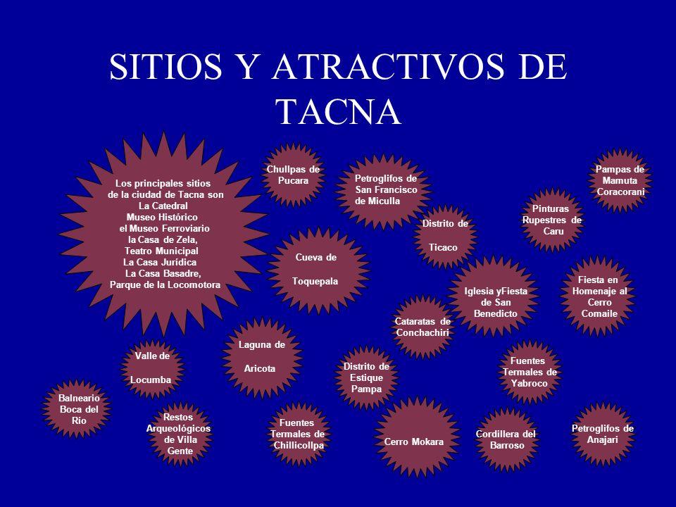 SITIOS Y ATRACTIVOS DE TACNA