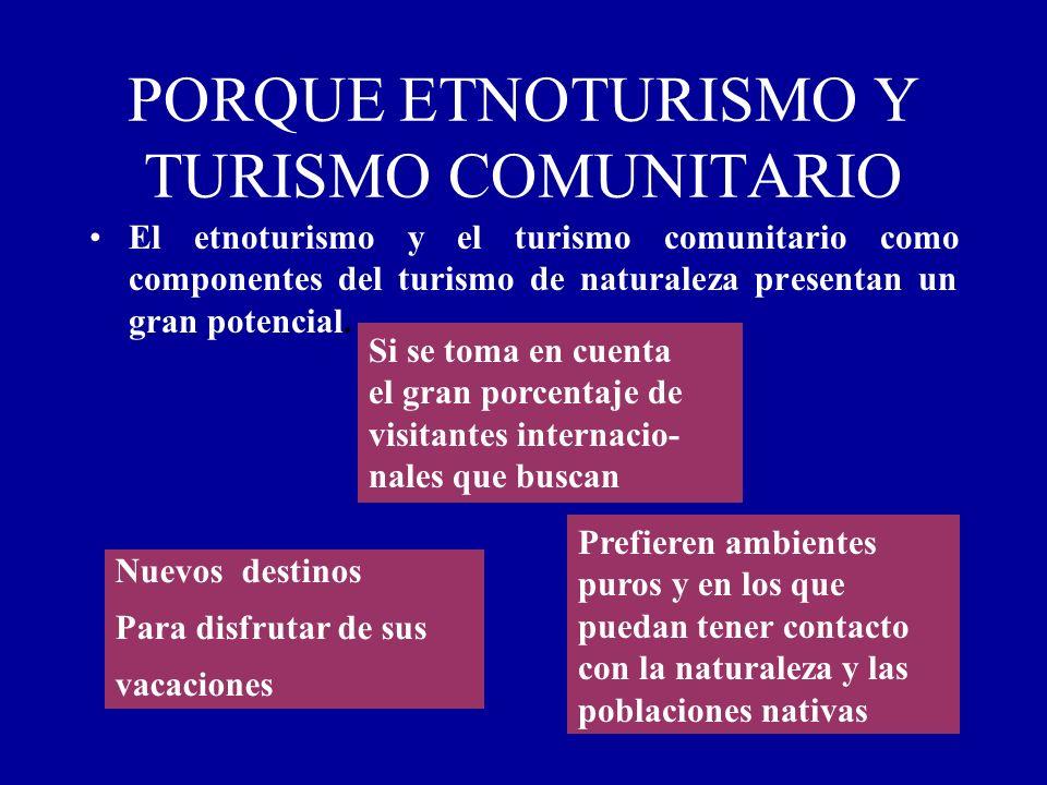 PORQUE ETNOTURISMO Y TURISMO COMUNITARIO