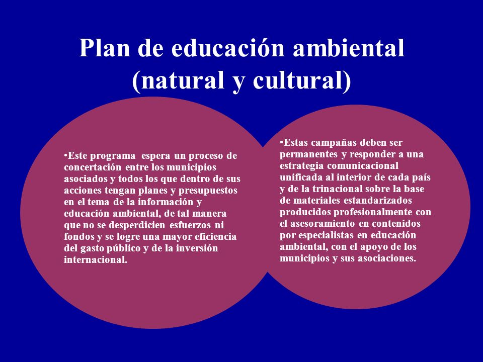 Plan de educación ambiental (natural y cultural)
