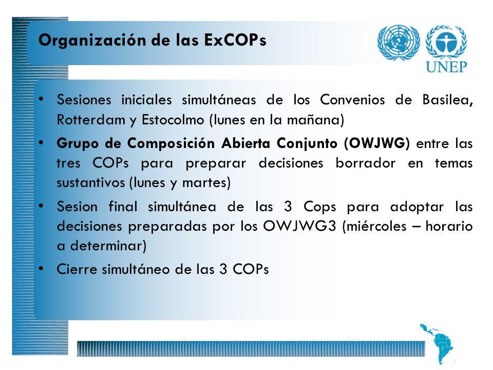 Organización de las ExCOPs