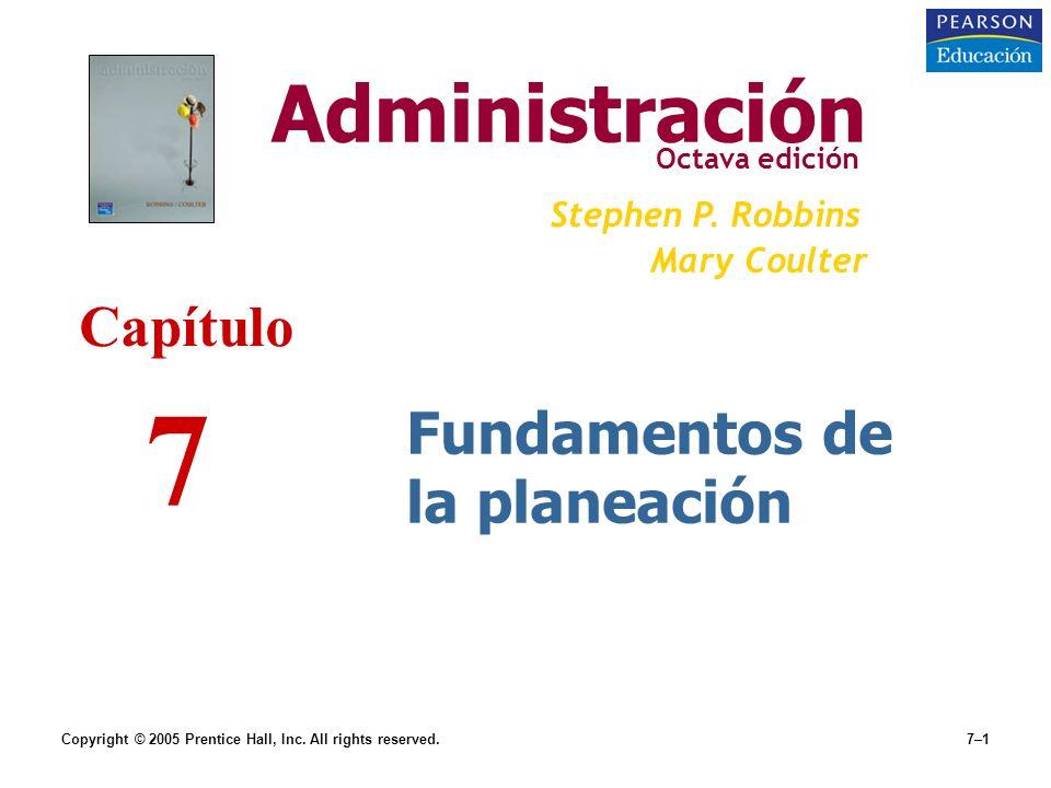 7 Administración Capítulo Fundamentos de la planeación