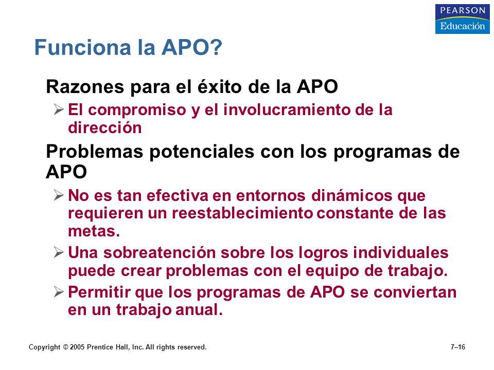 Funciona la APO Razones para el éxito de la APO