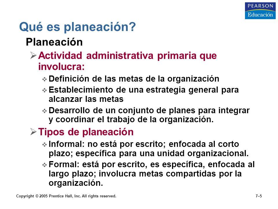 Qué es planeación Planeación