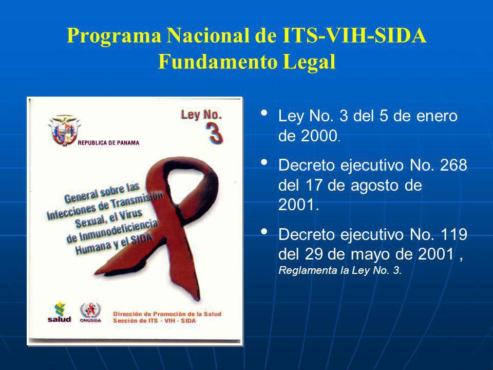 Programa Nacional de ITS-VIH-SIDA Fundamento Legal
