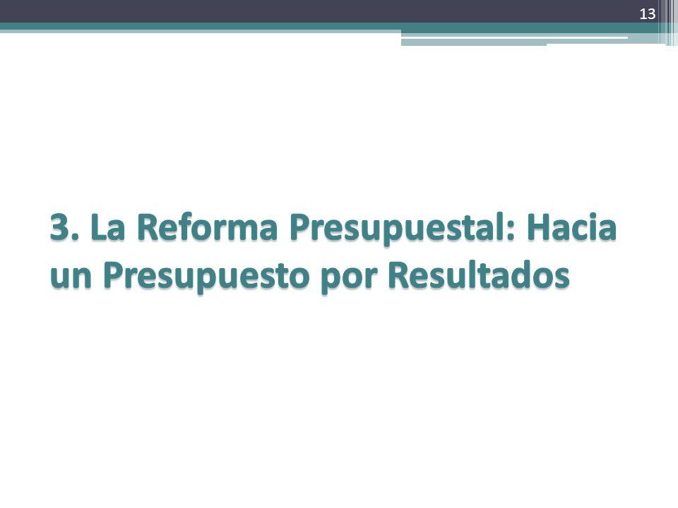 3. La Reforma Presupuestal: Hacia un Presupuesto por Resultados
