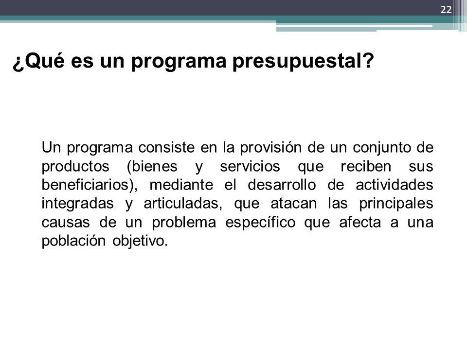 ¿Qué es un programa presupuestal