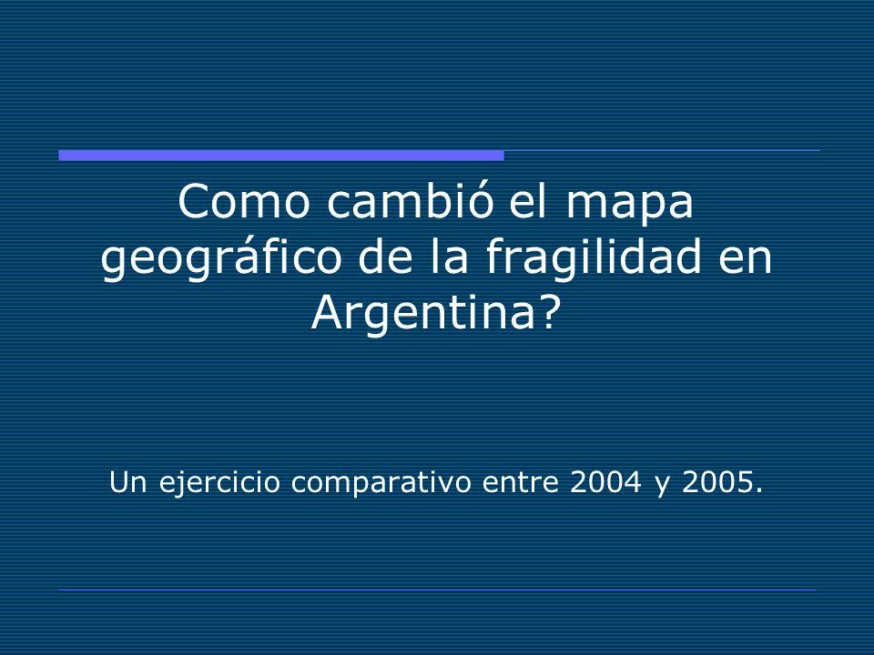 Como cambió el mapa geográfico de la fragilidad en Argentina