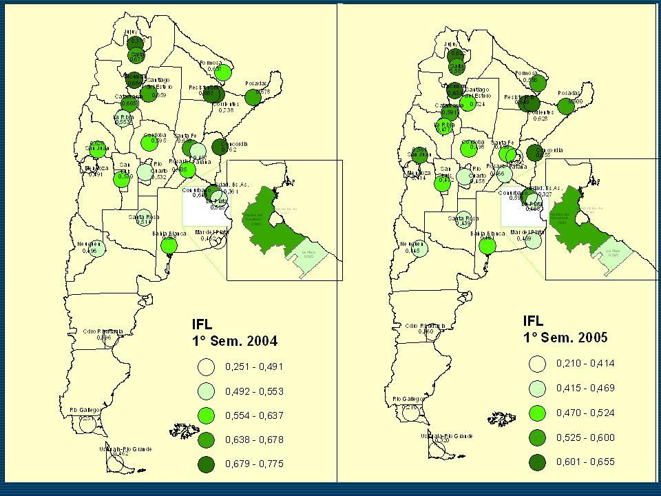Patagonia es la mejor posicionada en ambos semestres.