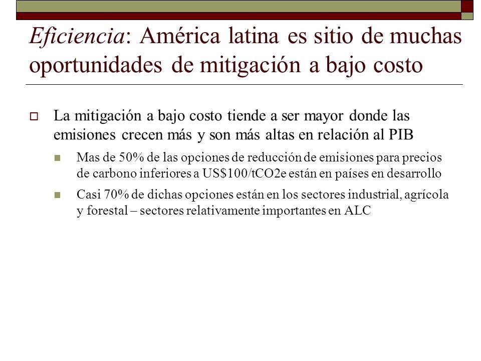 Eficiencia: América latina es sitio de muchas oportunidades de mitigación a bajo costo