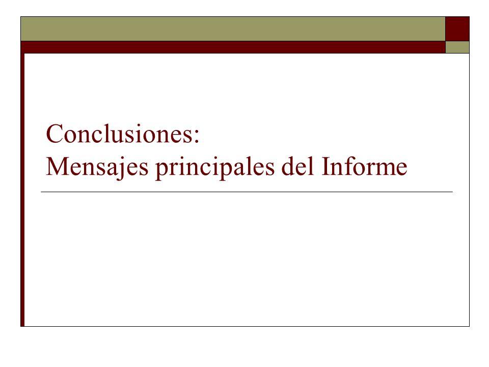 Conclusiones: Mensajes principales del Informe