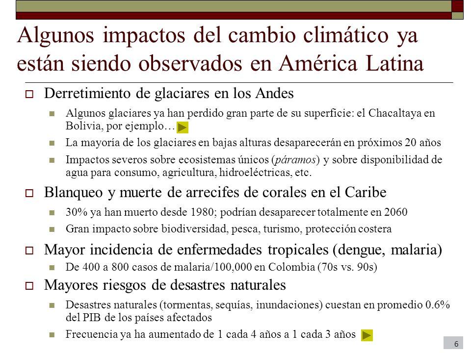 Algunos impactos del cambio climático ya están siendo observados en América Latina