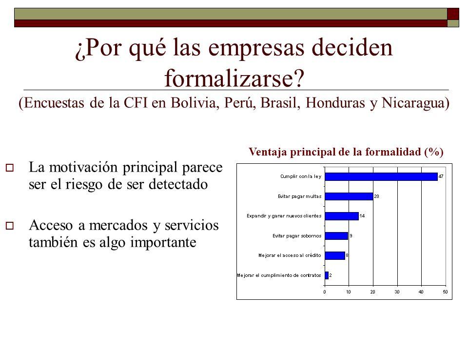 Ventaja principal de la formalidad (%)