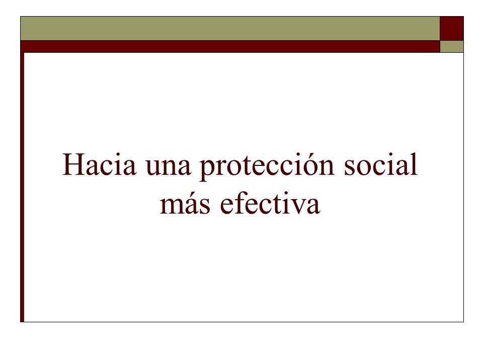 Hacia una protección social más efectiva
