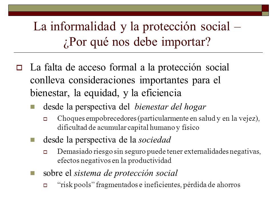 La informalidad y la protección social – ¿Por qué nos debe importar