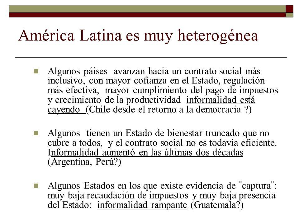 América Latina es muy heterogénea