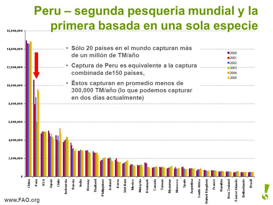 Peru – segunda pesqueria mundial y la primera basada en una sola especie