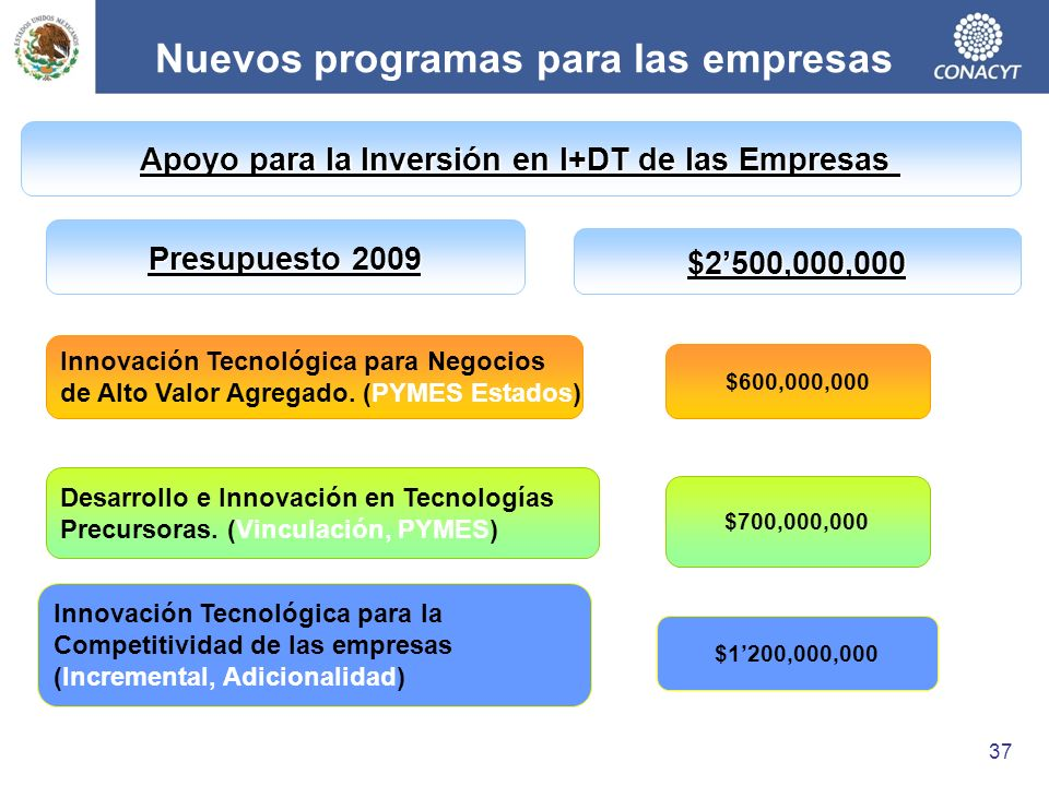 Nuevos programas para las empresas