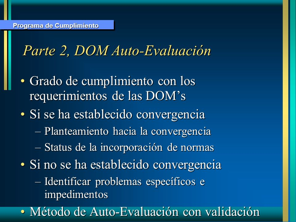 Parte 2, DOM Auto-Evaluación