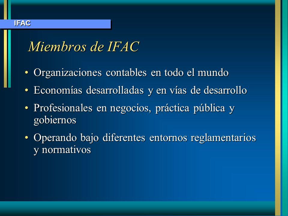 Miembros de IFAC Organizaciones contables en todo el mundo