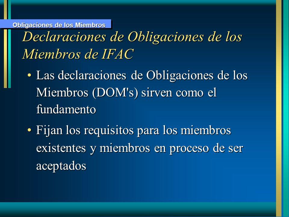 Declaraciones de Obligaciones de los Miembros de IFAC