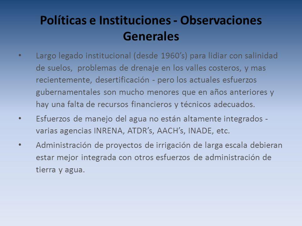Políticas e Instituciones - Observaciones Generales