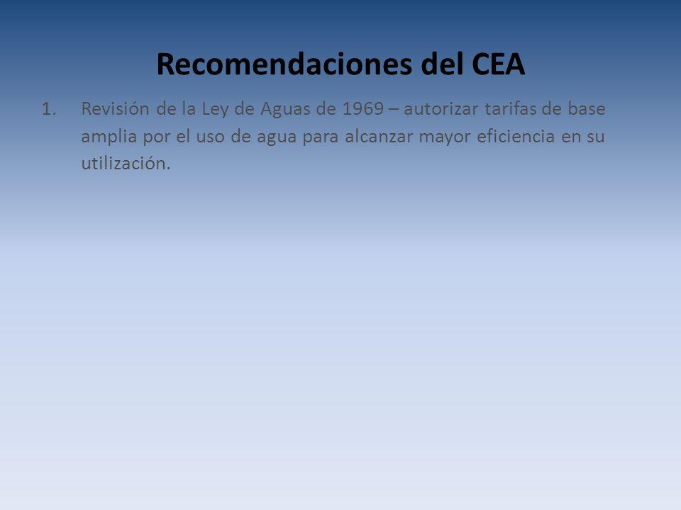 Recomendaciones del CEA