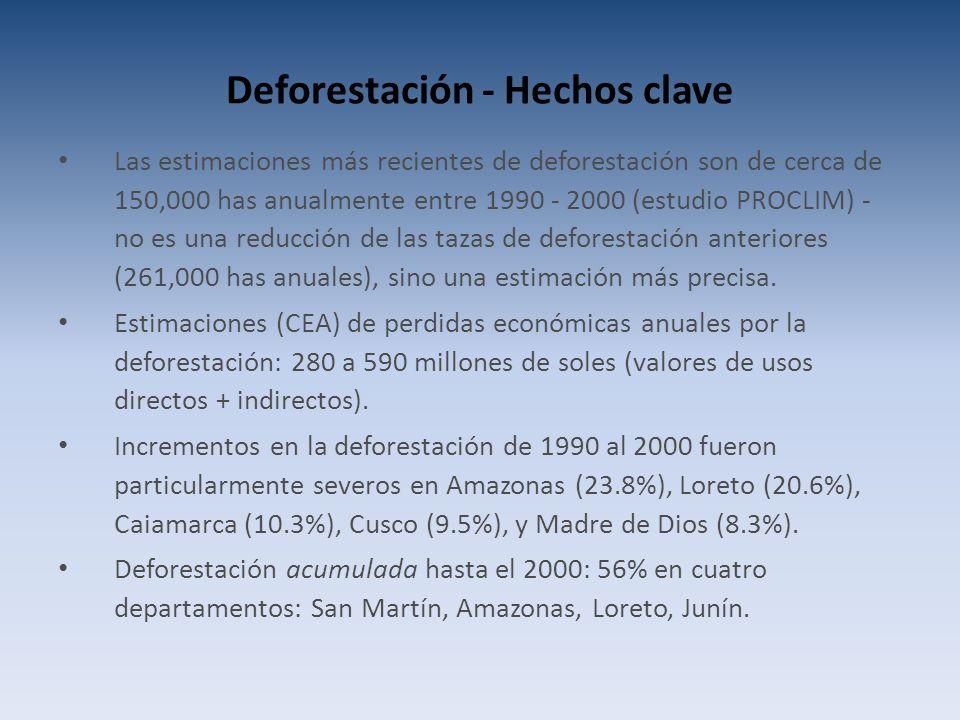 Deforestación - Hechos clave
