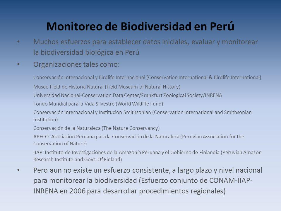 Monitoreo de Biodiversidad en Perú
