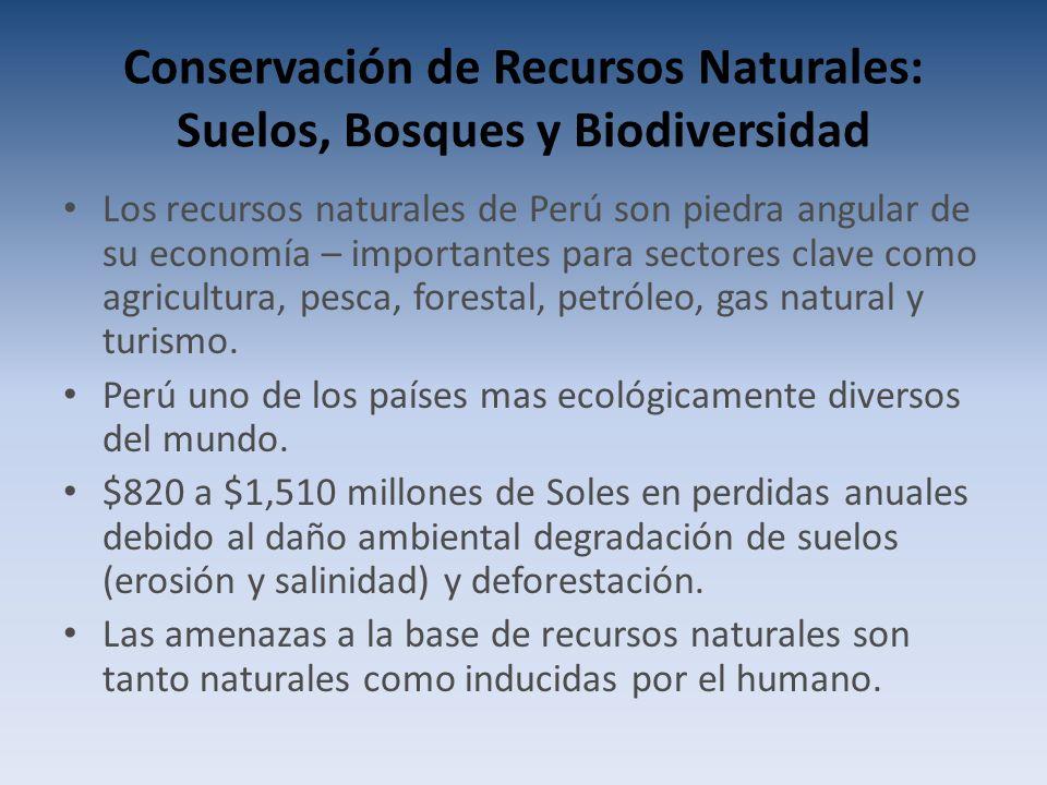 Conservación de Recursos Naturales: Suelos, Bosques y Biodiversidad