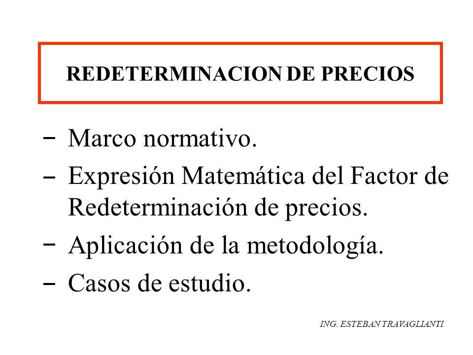 REDETERMINACION DE PRECIOS