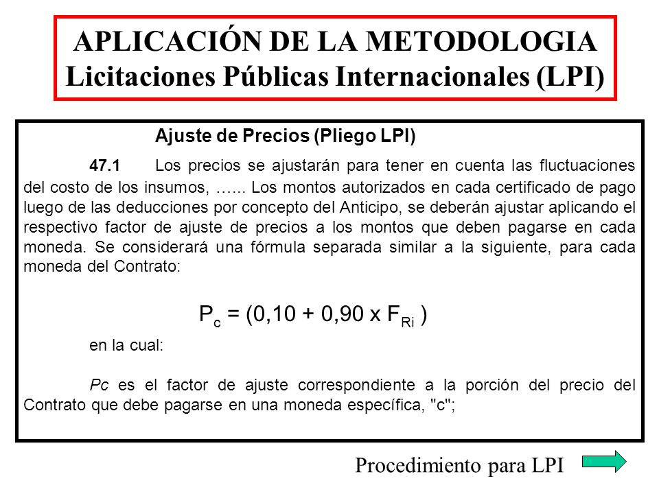 Procedimiento para LPI