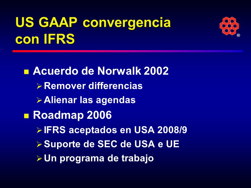 US GAAP convergencia con IFRS