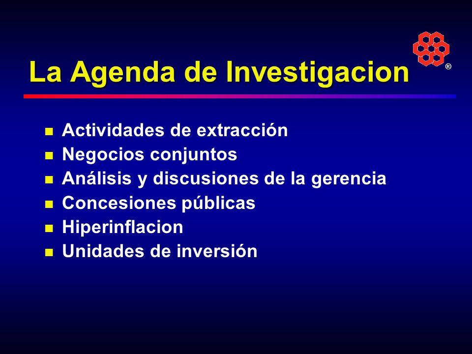 La Agenda de Investigacion