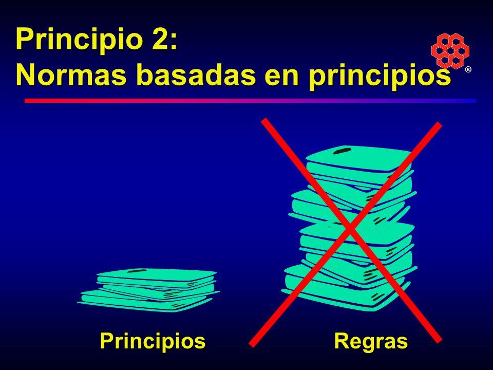 Principio 2: Normas basadas en principios