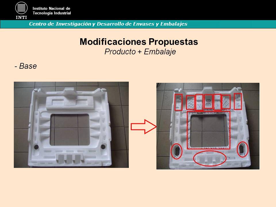Modificaciones Propuestas Producto + Embalaje